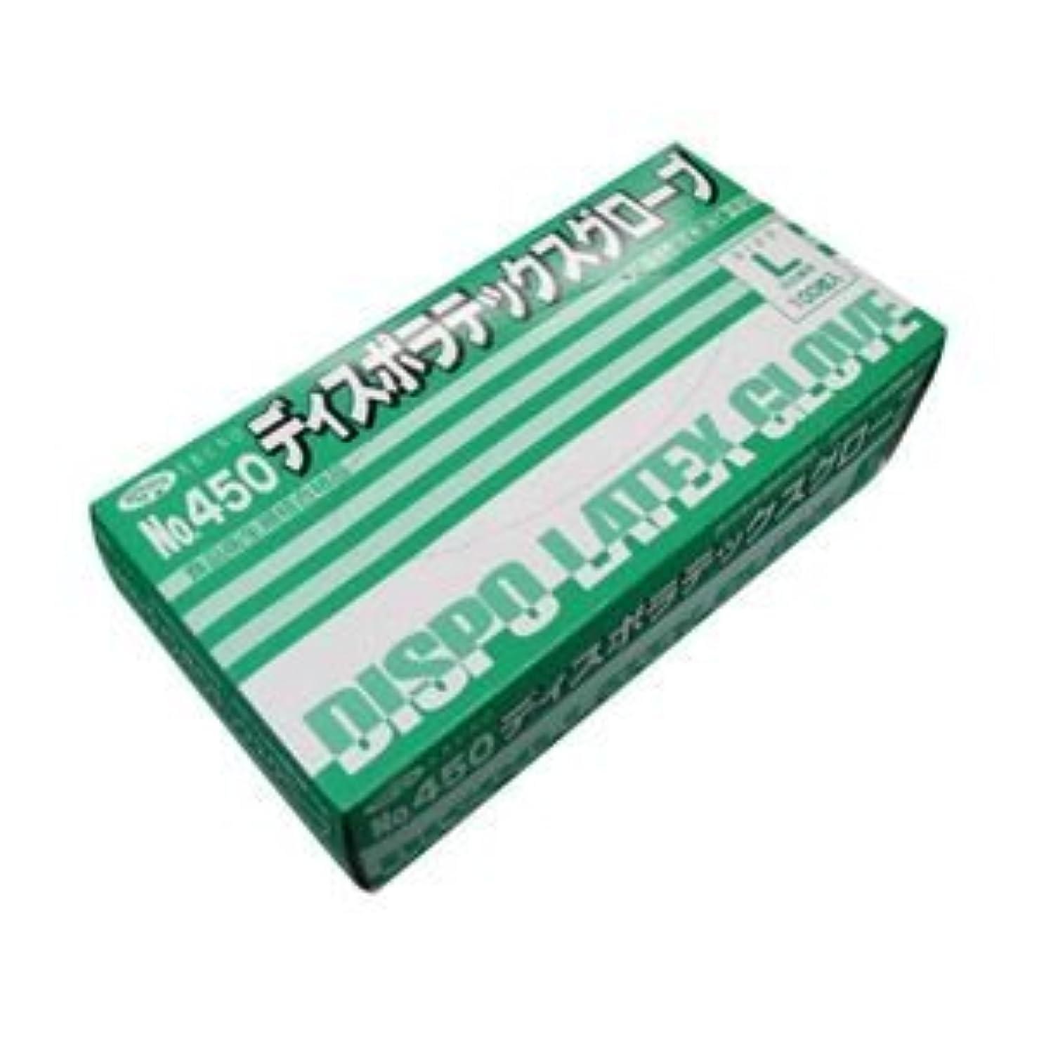 通訳到着する通訳エブノ No.450 ディスポラテックスグローブ 粉つき Lサイズ 1箱100枚