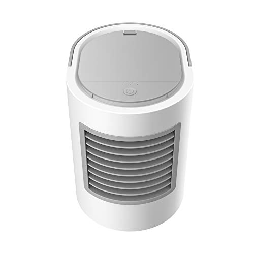 冷風扇 TLGlight 持ち運び 冷風扇風機 空気浄化 省エネ 卓上エアコン 3段階風量調節 カラフルな夜間ライト付き 静音 熱中症対策 自宅用 オフィス 車中泊 エアコン 車用冷風機