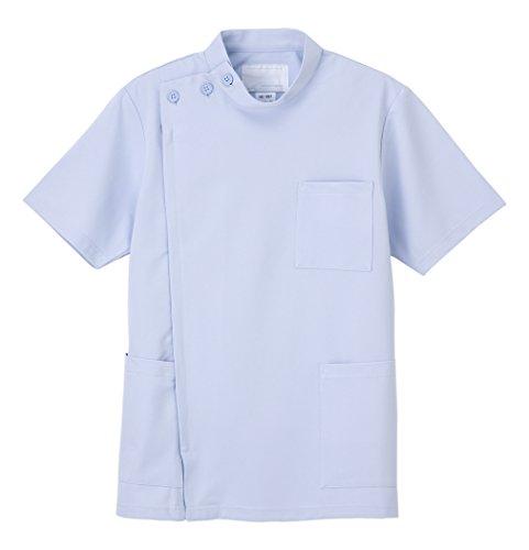ナガイレーベン 男子横掛半袖(ケーシー 医務衣) ブルー S HO-1967