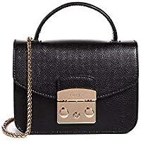 Furla Woman's Furla Metropolis Mini Black Leather Shoulder Bag Black