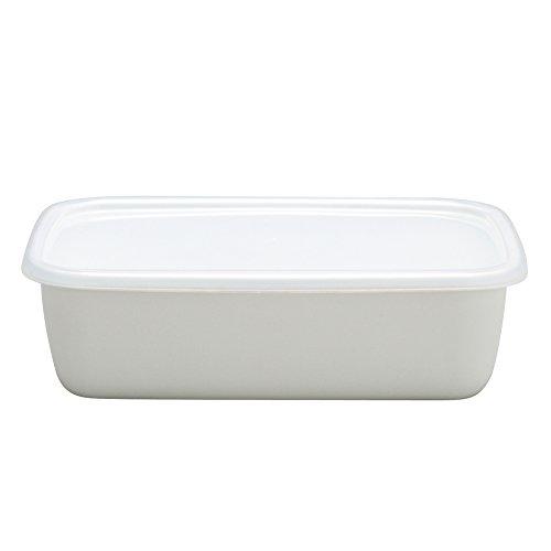 野田琺瑯 レクタングル深型M ホワイトシリーズ WRF-M