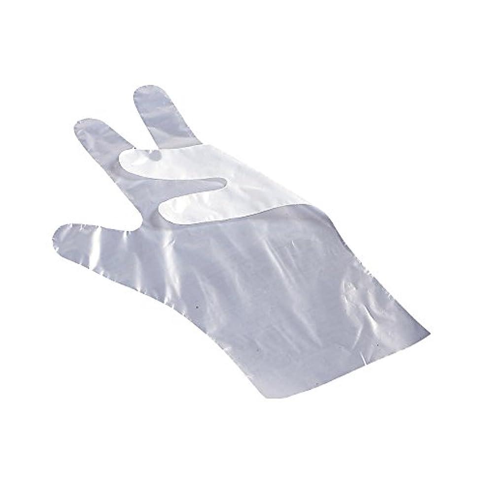 ペネロペ人工的な誓うサクラメンエンボス手袋 デラックス 白 L 100枚入