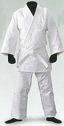 LION 授業に使う柔道着 色:ホワイト、白帯付き J-250 (上下+帯の3点セット)