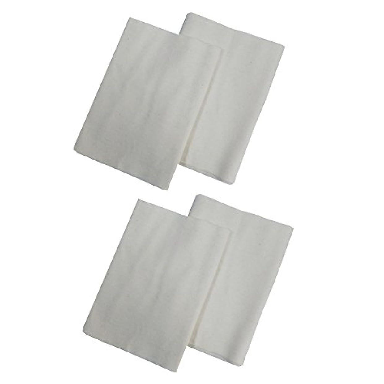 ブラウン分布断線コットンフランネル4枚組(ヒマシ油用) 無添加 無漂白 平織 両面起毛フランネル生成