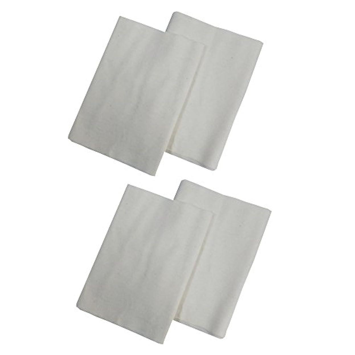 髄パンチ接続コットンフランネル4枚組(ヒマシ油用) 無添加 無漂白 平織 両面起毛フランネル生成