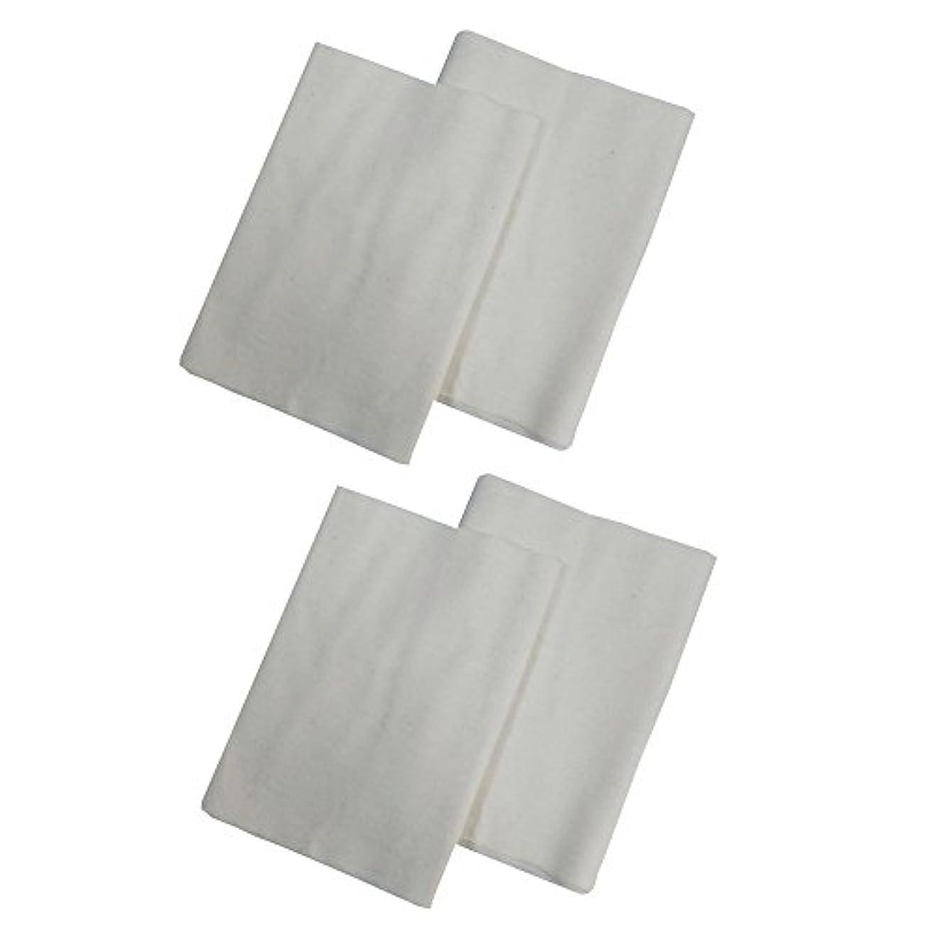 フィードオンそして密コットンフランネル4枚組(ヒマシ油用) 無添加 無漂白 平織 両面起毛フランネル生成