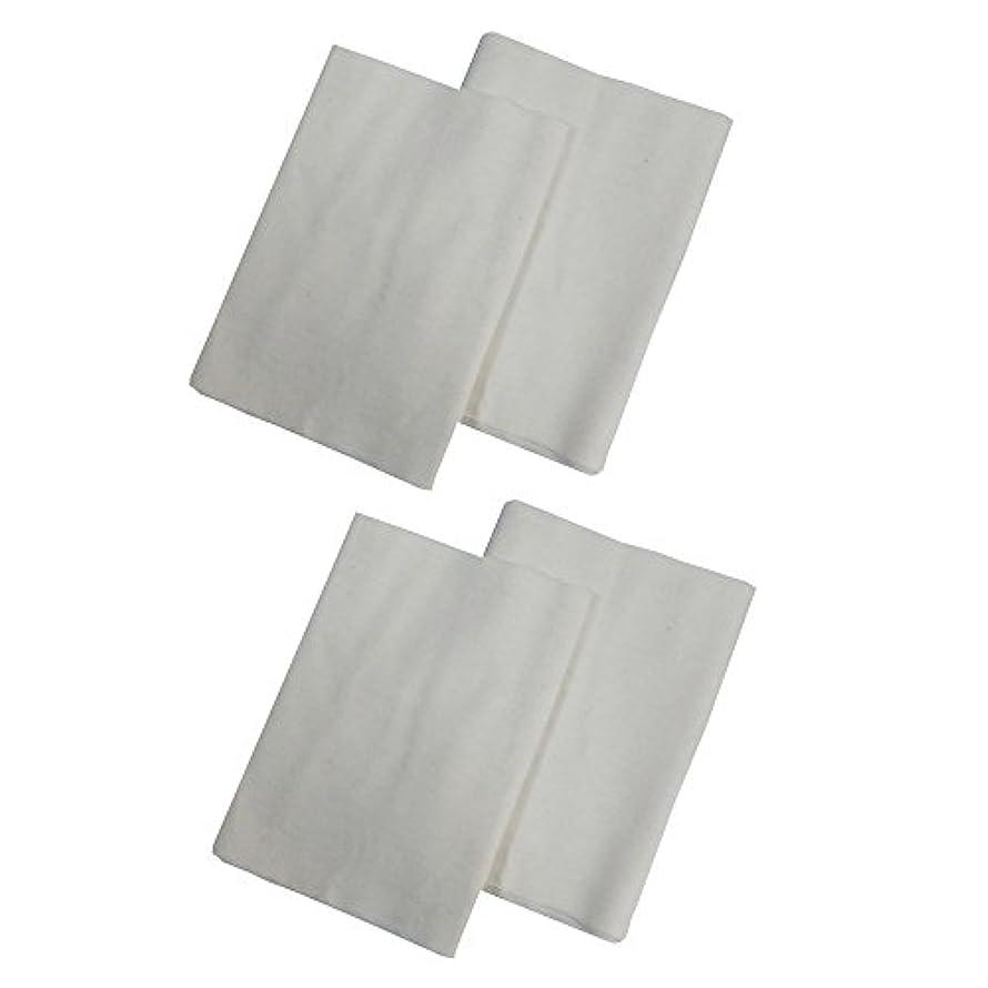 余剰自治的凍結コットンフランネル4枚組(ヒマシ油用) 無添加 無漂白 平織 両面起毛フランネル生成