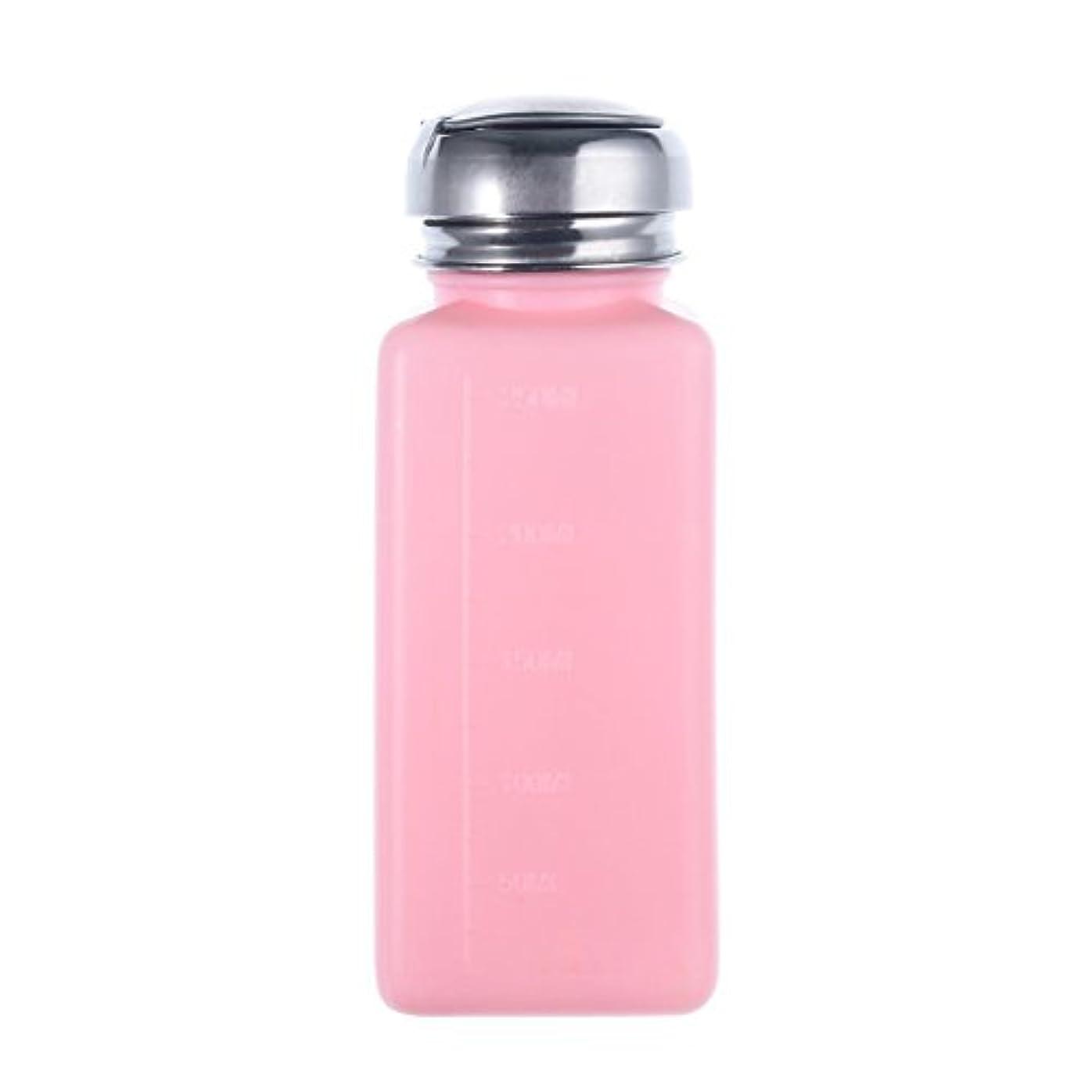 タイト炭素連続したCikuso エンプティーポンプディスペンサー ネイルアート研磨リムーバー 200MLボトル用 (ピンク)