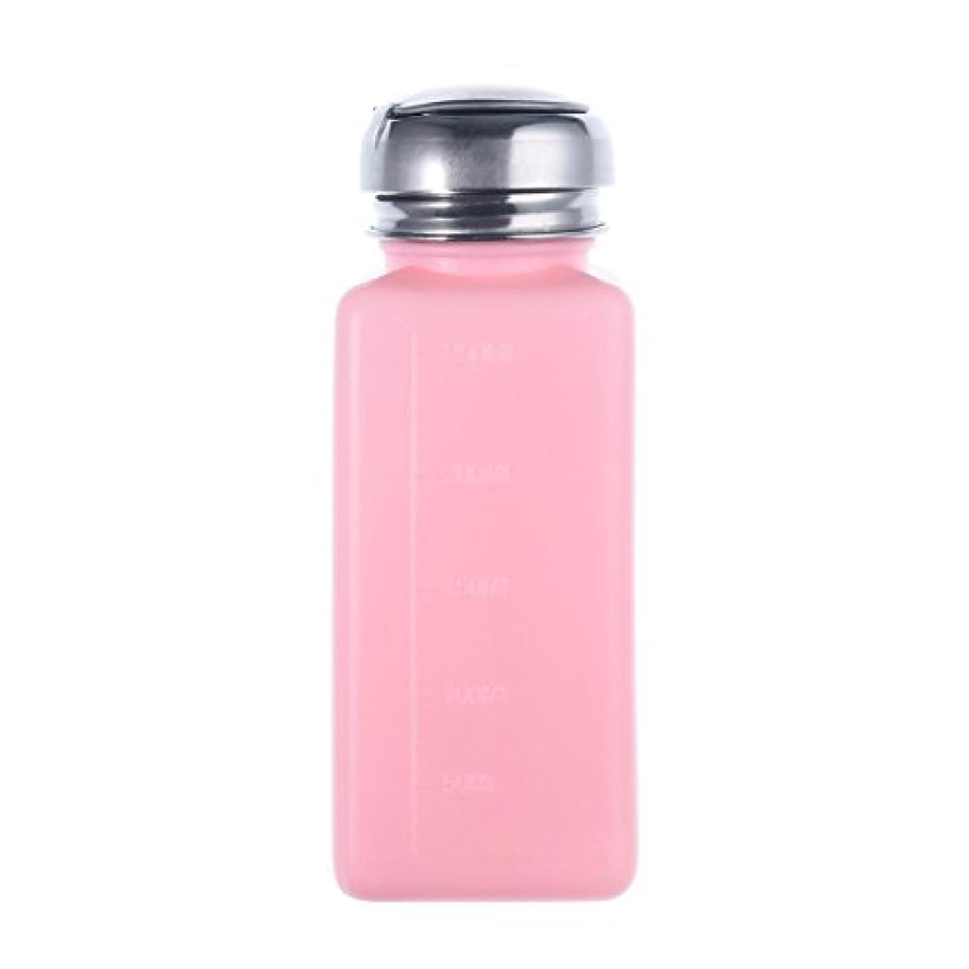 散文入口助けになるCikuso エンプティーポンプディスペンサー ネイルアート研磨リムーバー 200MLボトル用 (ピンク)