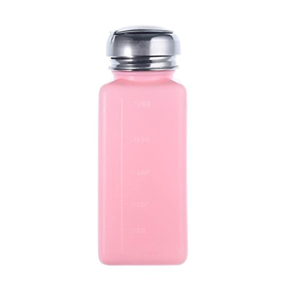 Cikuso エンプティーポンプディスペンサー ネイルアート研磨リムーバー 200MLボトル用 (ピンク)