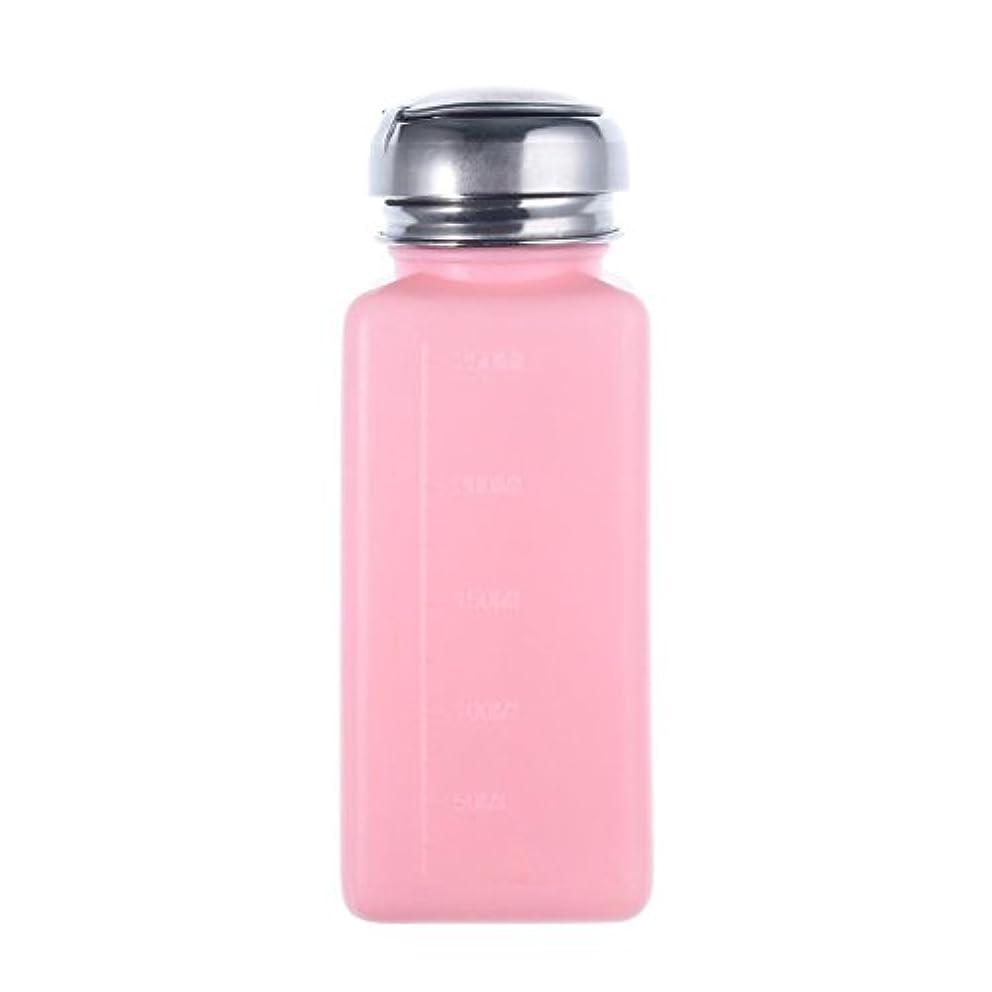 石鹸仕事に行くバイパスCikuso エンプティーポンプディスペンサー ネイルアート研磨リムーバー 200MLボトル用 (ピンク)