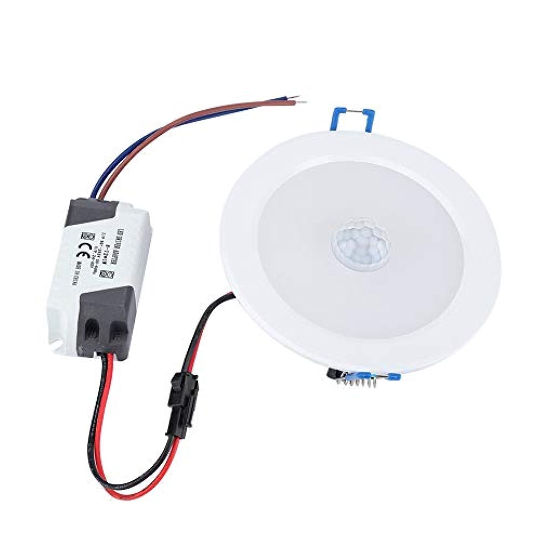 湿度植物学者小包xuuyuu LED赤外線センサーダウンライト センサーLED電球 LED人感センサーライト 埋込型LEDライト天井照明 9W 18LED 円形(コールドホワイト)