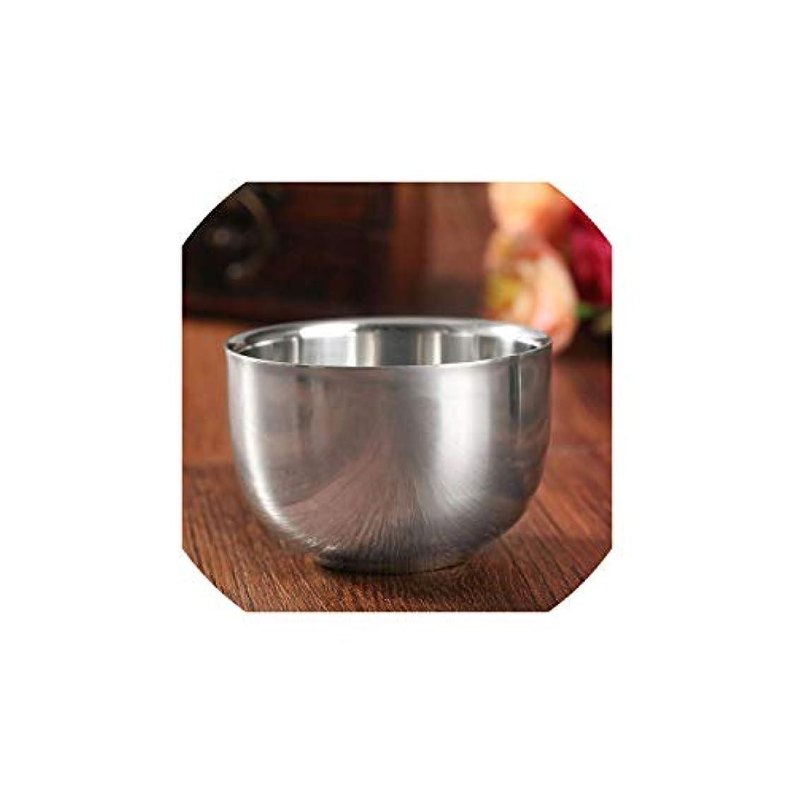 関係する敬意を表するまたはDream-catching 7.2cm ステンレススチール メタル メンズ シェービングマグ ボウルカップ シェービングマグ シェービングマグ メンズマグ ボウルカップ シェーブブラシ用