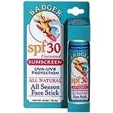 [海外直送品] バジャー(Badger) フェイススティック サンスクリーン SPF30 18.4g (無香料)