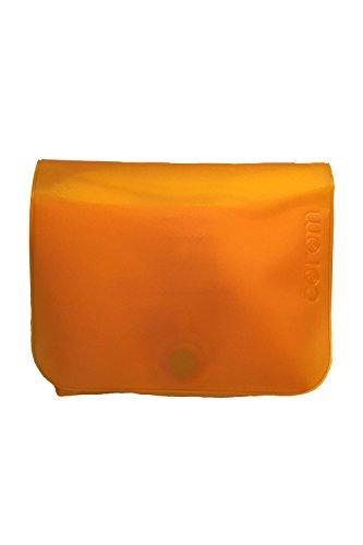corom コロン おむつポーチ かわいい 防水 軽い キレイを持ち歩こう キャンディー オレンジ