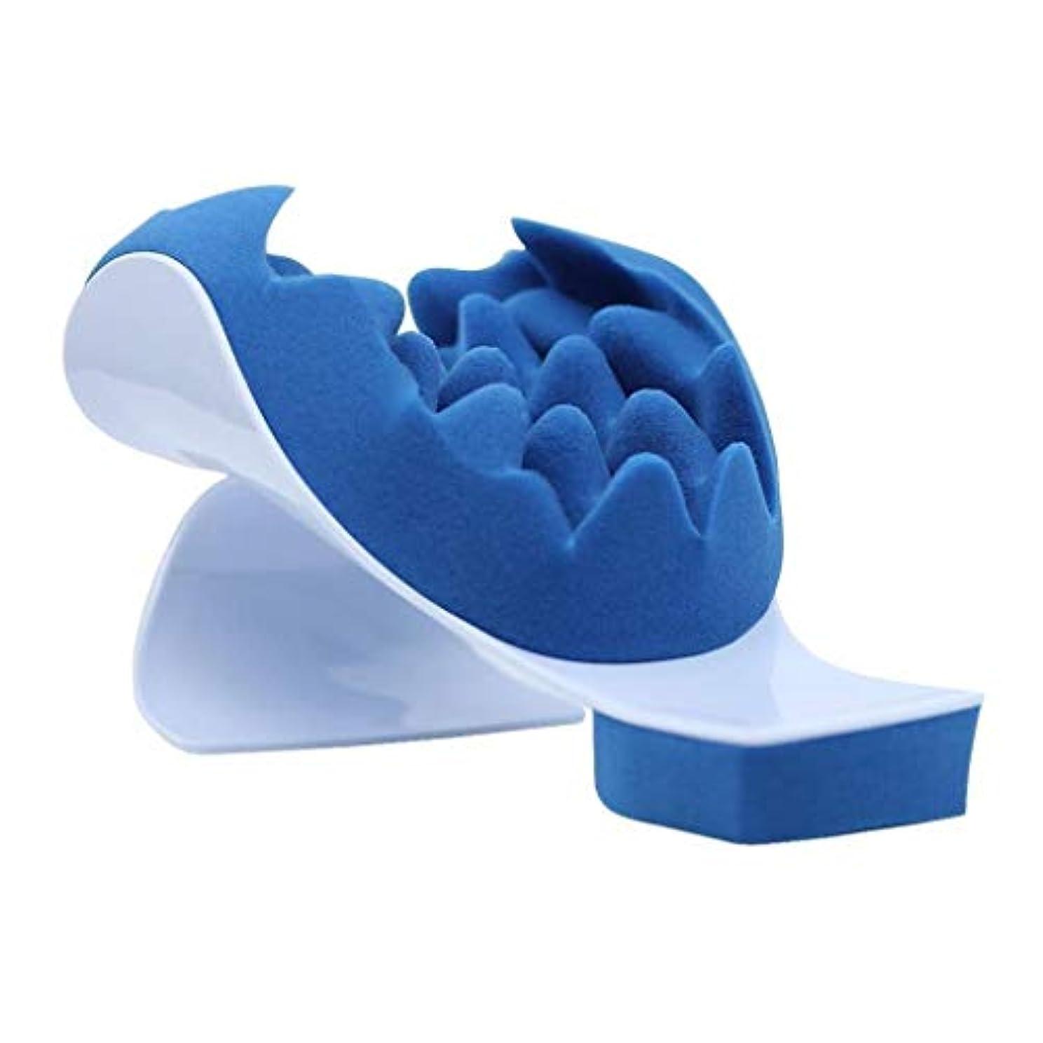 チャペルアンソロジーリファイン頚部マッサージャー、首と肩の枕マッサージマット、リラクゼーションマッスルとサポートマッサージ機器、メモリーフォームパッド、ホームオフィス旅行の使用に適しています