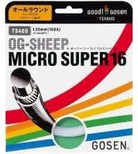 ゴーセン 単張りガット オージー・シープミクロスーパー16 ホワイト OG-SEEP MICRO SUPER 16 TS400-W