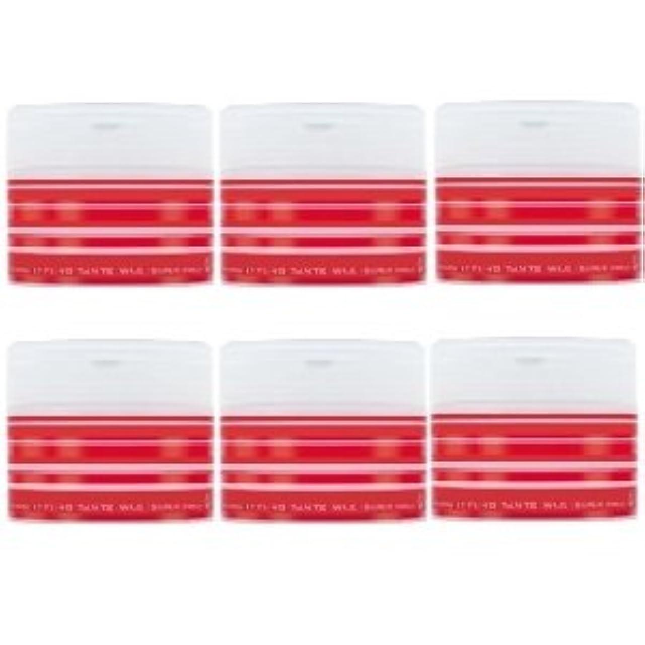 お手入れ有彩色の最高ナカノ スタイリング タントN ワックス 5 スーパーハード 90g × 6個セット