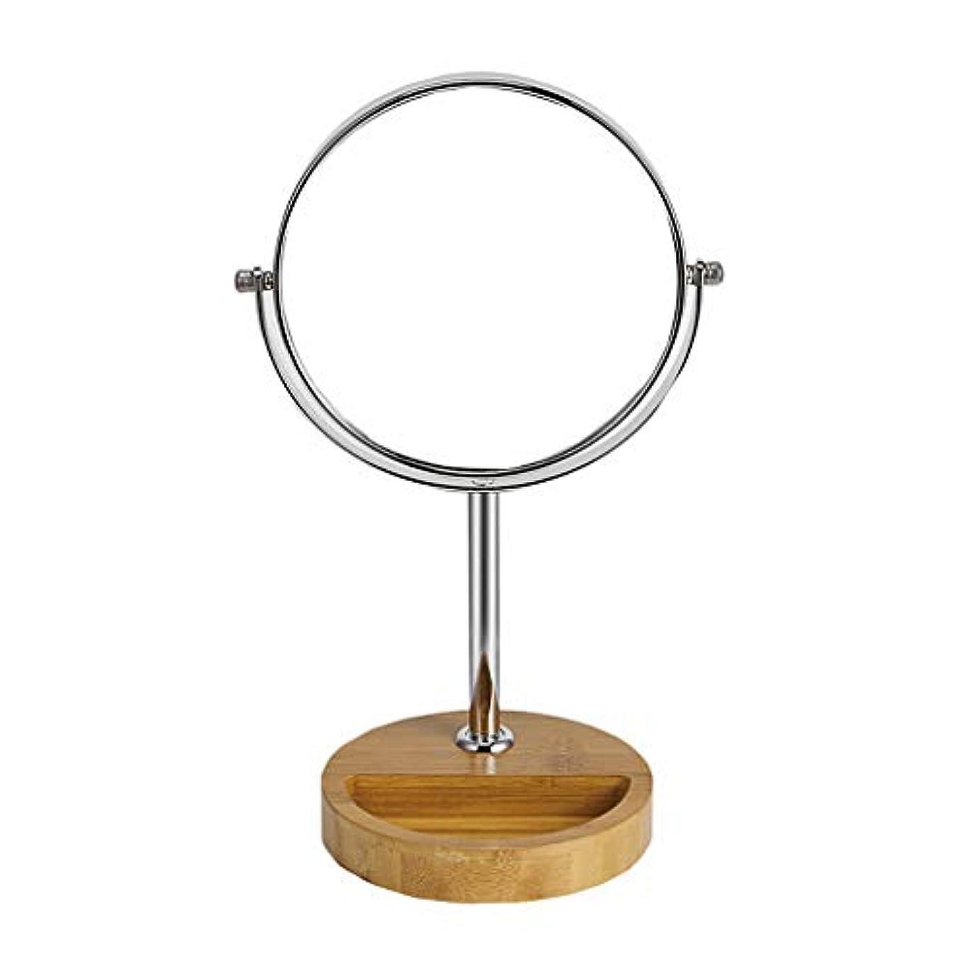 リングちっちゃい付けるACMEDE 卓上鏡 化粧鏡 卓上ミラー 鏡 卓上 360°回転 等倍鏡&3倍拡大鏡 スタンドミラー 卓上 光学レンズ高解像度 シンプル