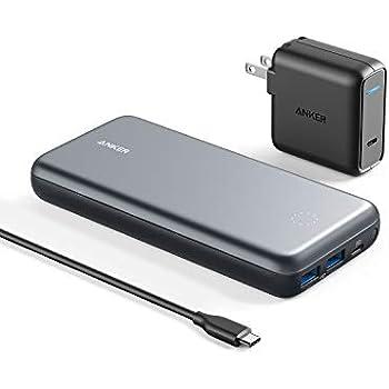 Anker PowerCore+ 19000 PD(19000mAh PD対応 3ポート 超大容量 モバイルバッテリー)【PSE認証済 / 30W USB-C急速充電器付属/Power Delivery対応/USB-C入出力ポート/USBハブモード搭載/データ転送対応】iPhone&Android対応