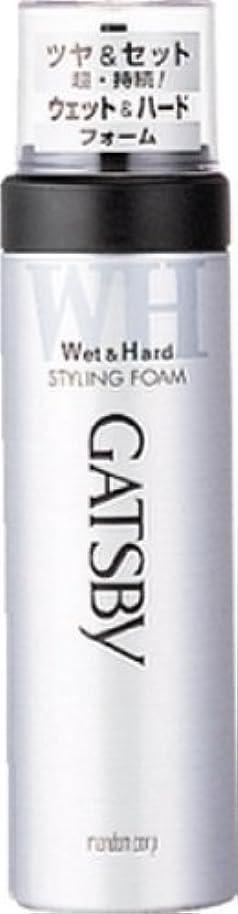 後ろに相互欠如GATSBY(ギャツビー) スタイリングフォーム ウェット&ハード 185g ×3個