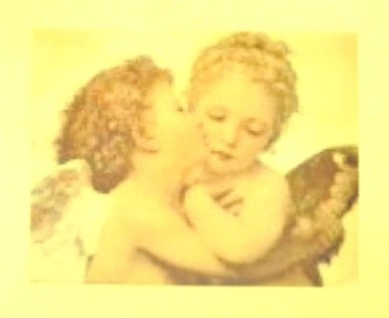 行列人質抽象化エンジェル?絵画【ロココ ネイルアートシール】天使(1)/1シート1枚(半透明)