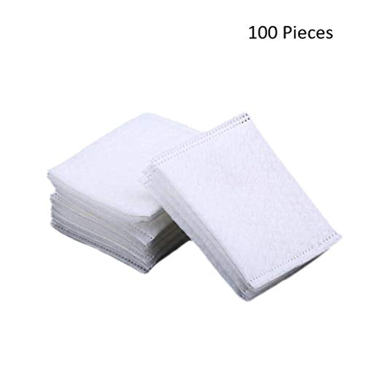 休暇マイクロプロセッサフォーク50/100/220ピースダブルサイドフェイスメイクアップリムーバーコットンパッド密封旅行削除コットンパッドスキン化粧品メイクアップツール (Color : White, サイズ : 100 Pieces)