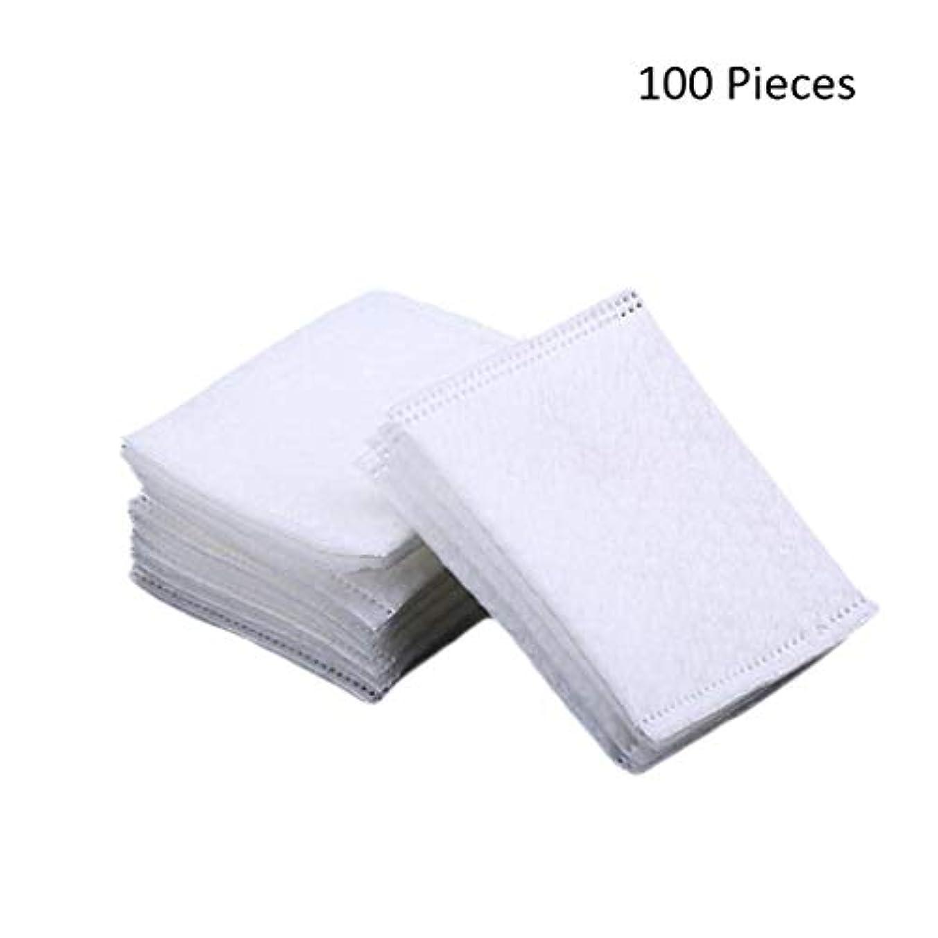 私たち自身病んでいる教養がある50/100/220ピースダブルサイドフェイスメイクアップリムーバーコットンパッド密封旅行削除コットンパッドスキン化粧品メイクアップツール (Color : White, サイズ : 100 Pieces)