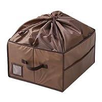 【まとめ 5セット】 ワイズコーポレーション 除湿&消臭カバン収納ボックス ブラウン 8100521