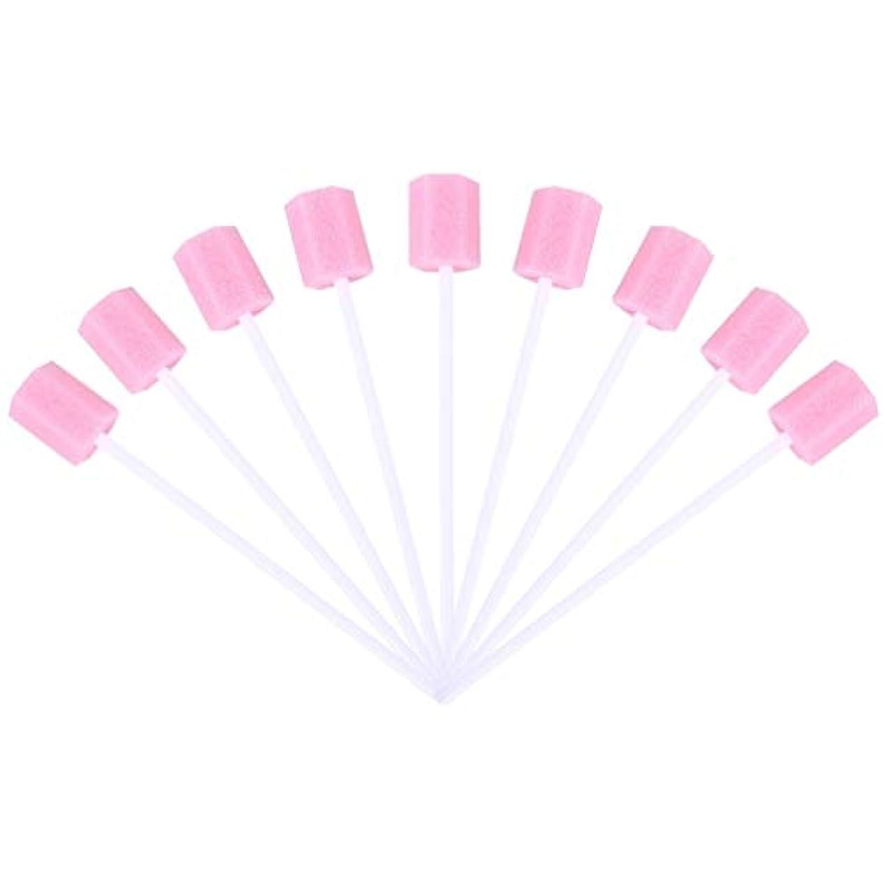 シンポジウムなので急いでSUPVOX 30ピーススポンジ綿棒使い捨て医療スポンジスティック歯口洗浄口腔ケアツール(ピンク)
