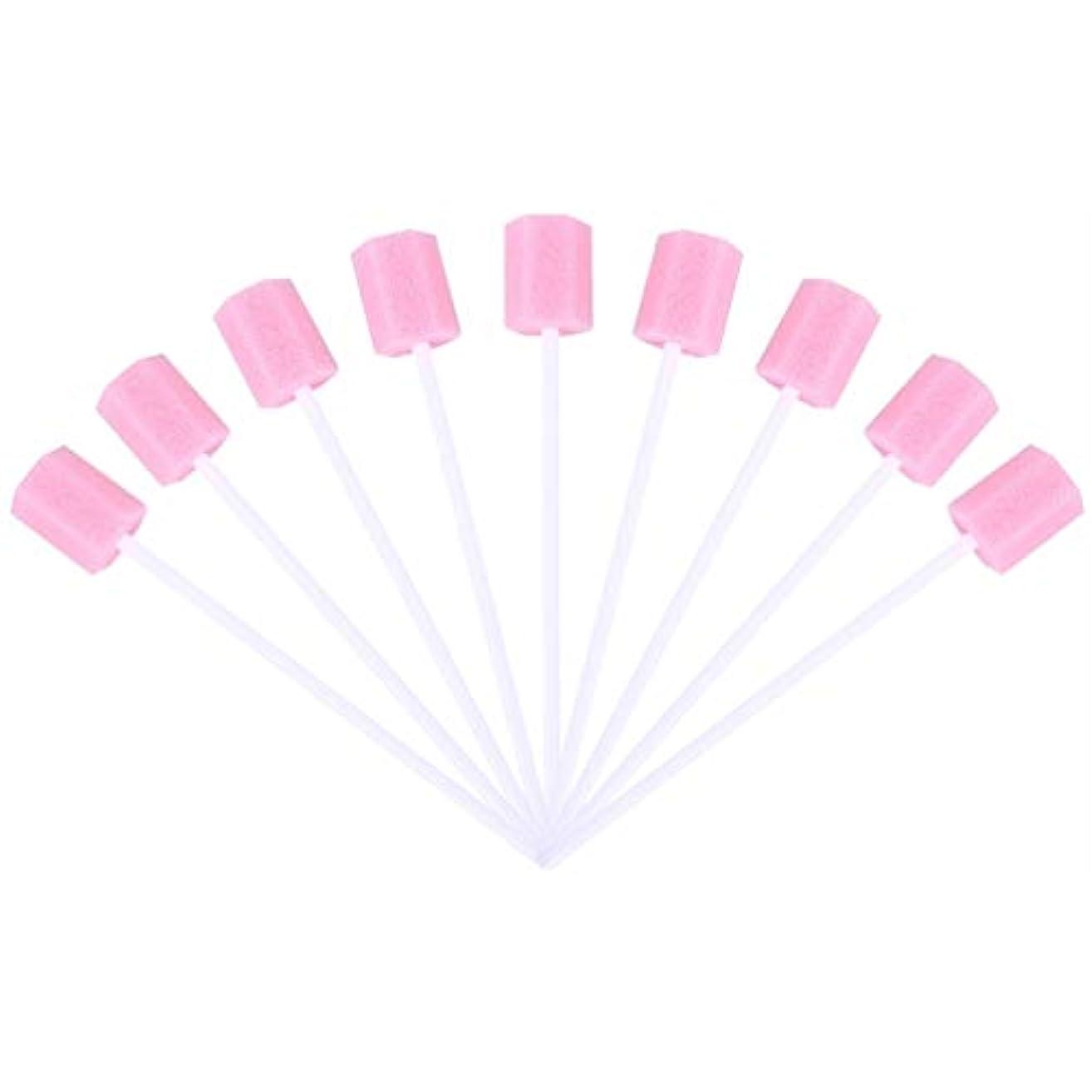 フィッティングルネッサンスシルクSUPVOX 30ピーススポンジ綿棒使い捨て医療スポンジスティック歯口洗浄口腔ケアツール(ピンク)