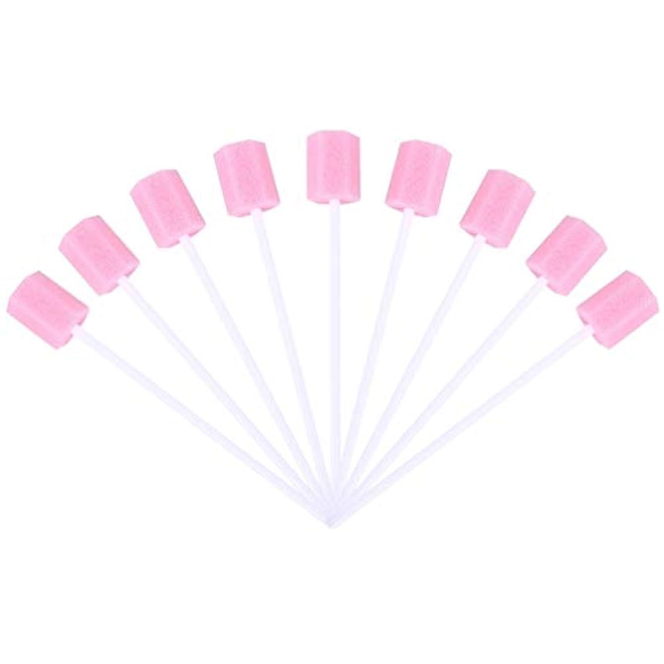 具体的にしかしながら寝てるSUPVOX 30ピーススポンジ綿棒使い捨て医療スポンジスティック歯口洗浄口腔ケアツール(ピンク)
