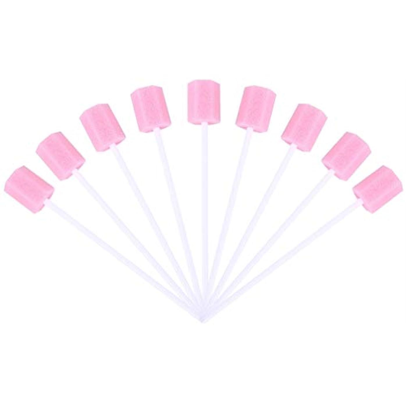 ティッシュショッキング慢なSUPVOX 30ピーススポンジ綿棒使い捨て医療スポンジスティック歯口洗浄口腔ケアツール(ピンク)