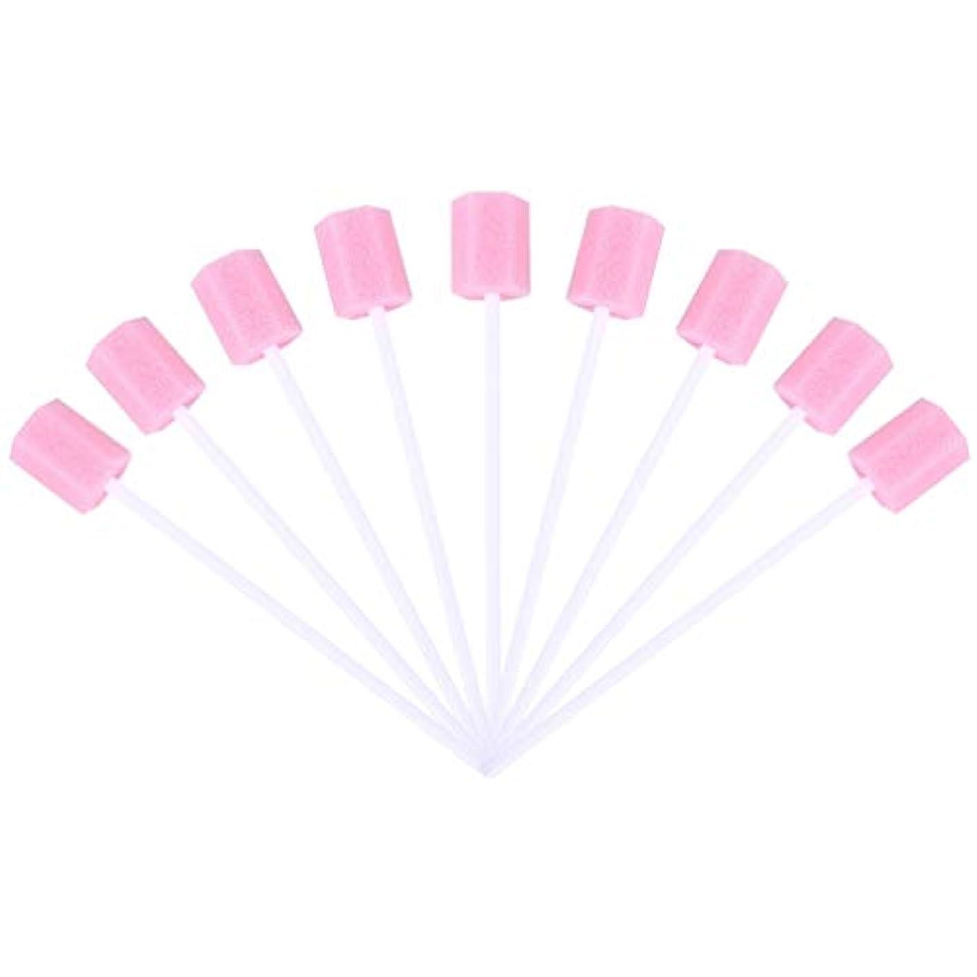 偶然バンカーブリーフケースSUPVOX 30ピーススポンジ綿棒使い捨て医療スポンジスティック歯口洗浄口腔ケアツール(ピンク)