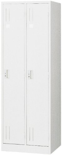 アルプススチール ロッカー スタンダードロッカー 2人用 ホワイト 白 W608×D515×H1790 シリンダー錠 ML27-AW