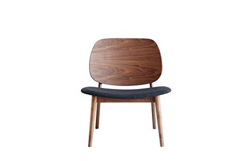 ウォールナット ラウンジチェア 北欧風椅子