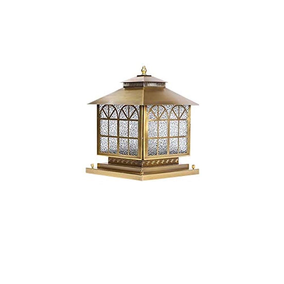 ファイナンスエンターテインメント表現Pinjeer ヴィンテージライト高級すべて銅ガラスE27ガーデンコラムランプヨーロッパip42防水屋外景観ポストライトドアストリート中庭ヴィラコミュニティ装飾柱ライト