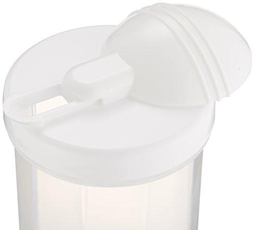 サンコープラスチック 日本製 麦茶ポット マリンクーラー 丸型 1L ホワイト