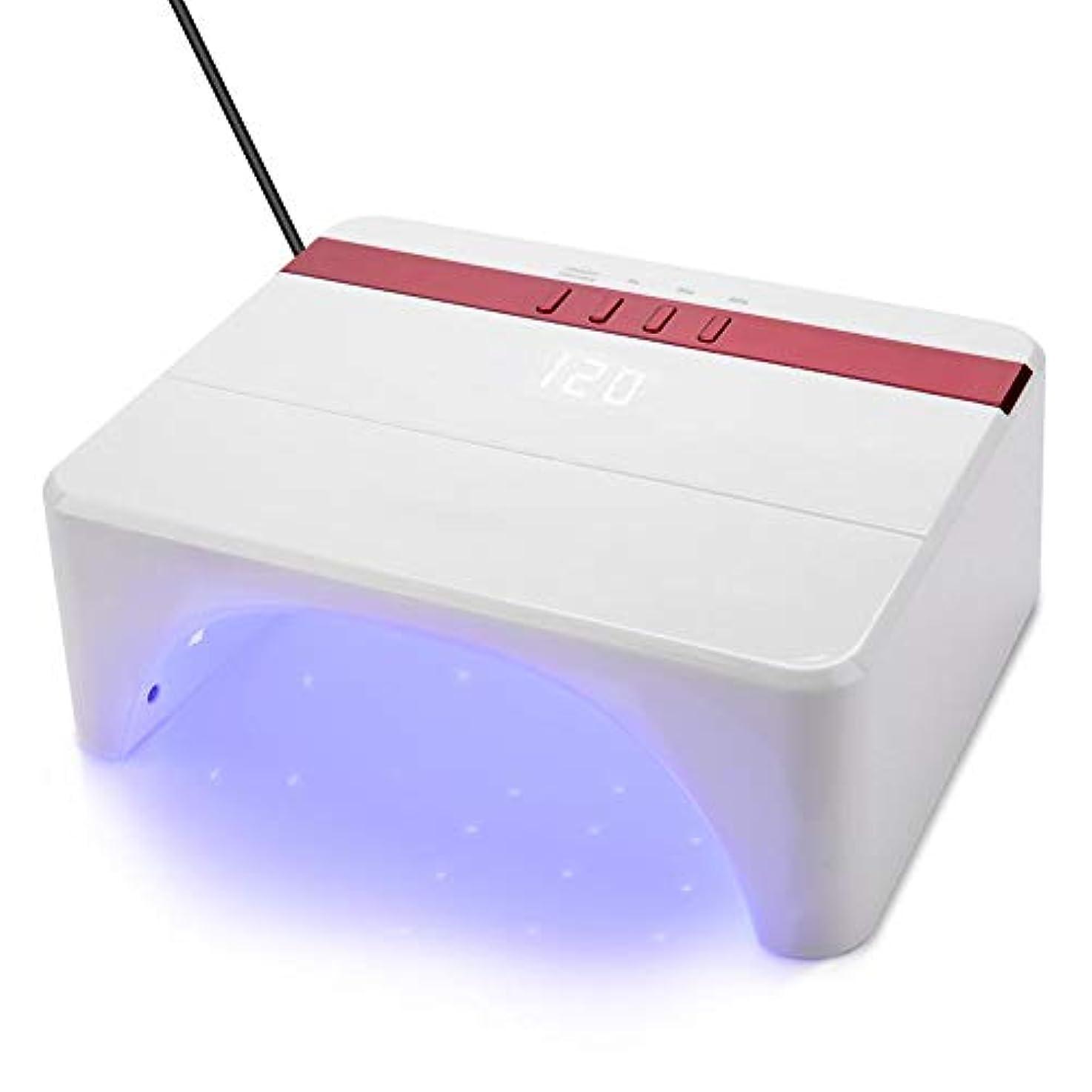 嫌がらせボイラー連合Ochun LEDネイルドライヤー UVネイル硬化ライト ネイルジェル硬化 24W/48Wネイルランプ 赤外線センサー付き 3段階タイマー デジタル表示 30枚LED配置 快速乾燥?硬化(ホワイト)