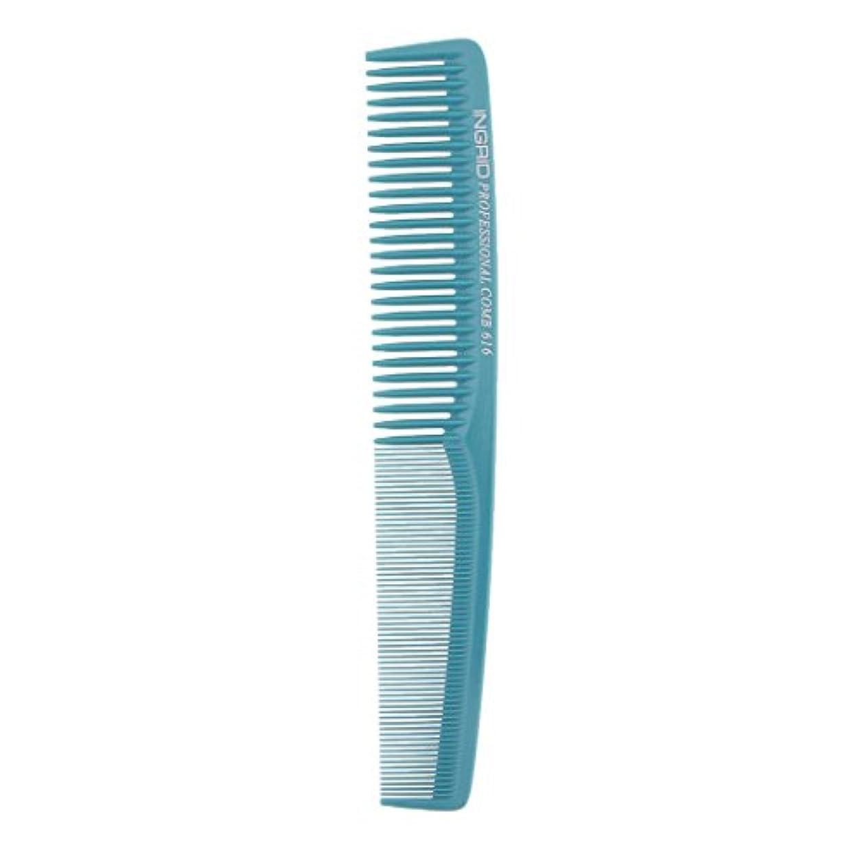 トレーニングまろやかな寄稿者T TOOYFUL プロサロンヘアースタイリング理髪帯電防止理容室もつれ櫛ブラシ - ライトブルー