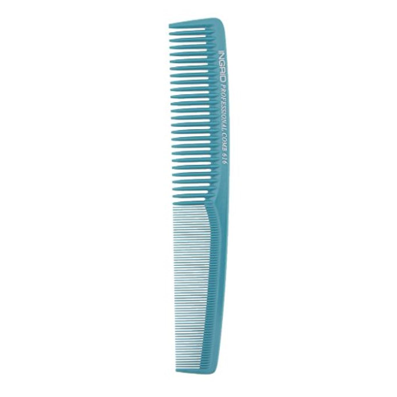 カバー印象的十分にプロサロンヘアースタイリング理髪帯電防止理容室もつれ櫛ブラシ - ライトブルー
