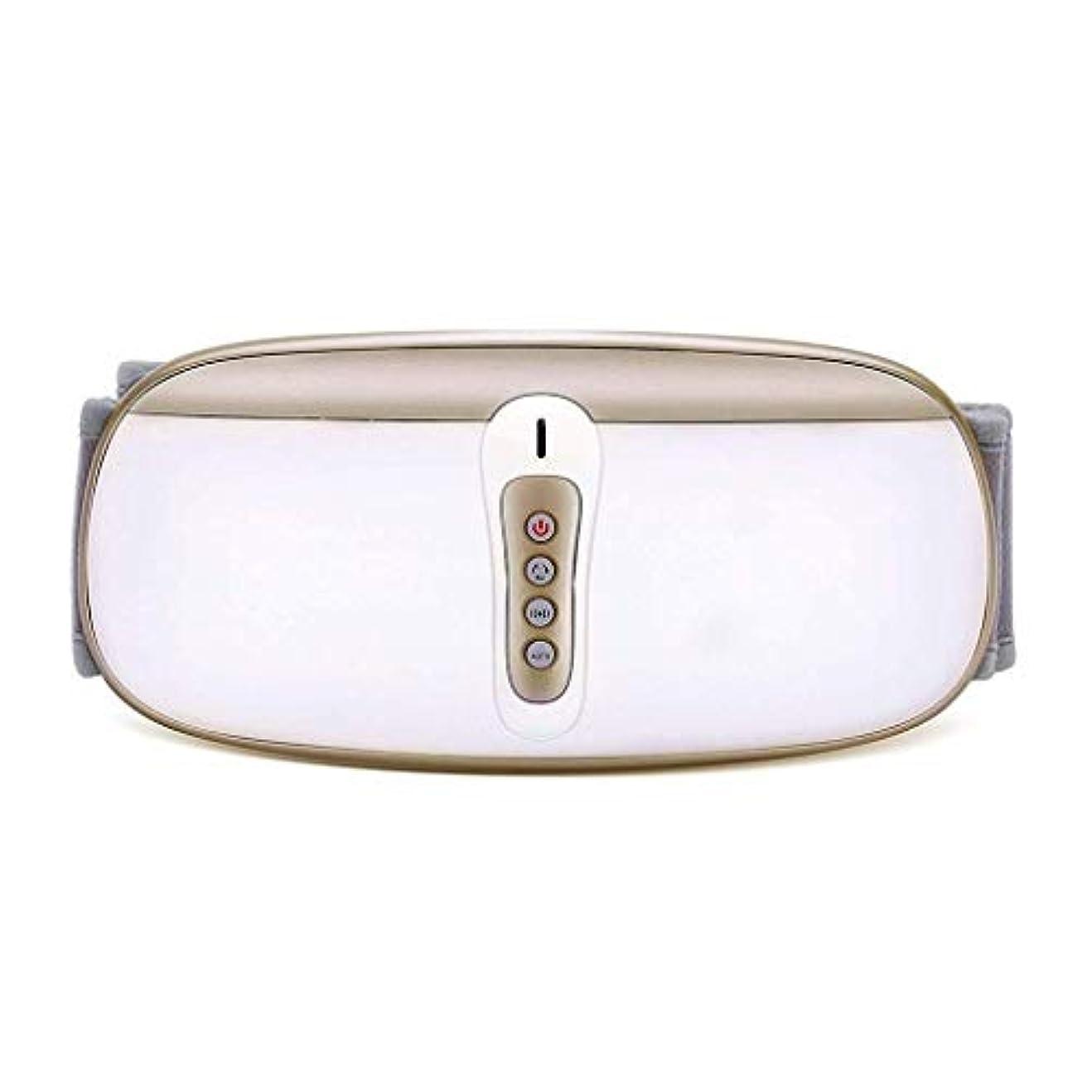 ネコ泣いている伸ばすウエストマッサージャー、電気Slim身ベルト、振動マッサージベルト、余分な脂肪を減らす (Color : ゴールド)
