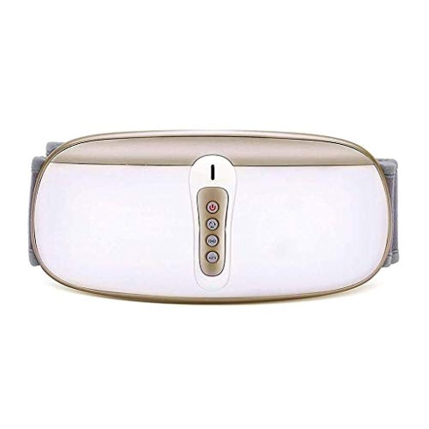 平和な鏡楕円形ウエストマッサージャー、電気Slim身ベルト、振動マッサージベルト、余分な脂肪を減らす (Color : ゴールド)