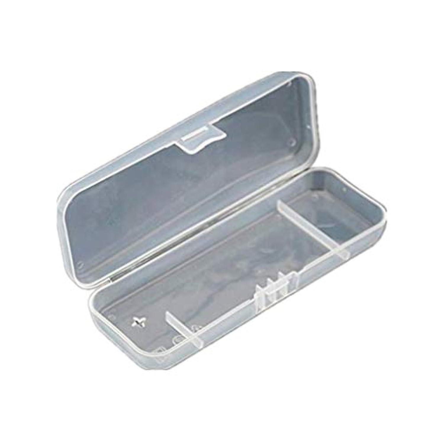 厳しい無駄だフリース旅行のためのポータブルトラベルABSカバーマニュアルレイザー保護透明ボックスホルダーカバー男性シェービングケース