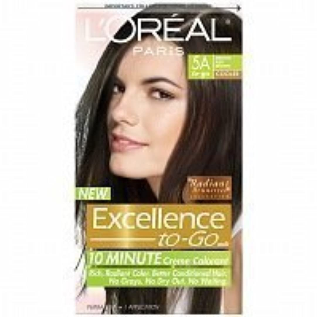 勤勉なシャトル果てしないL'Oreal Paris Excellence To-Go 10-Minute Cr?N?Nme Coloring, Medium Ash Brown 5A by L'Oreal Paris Hair Color [並行輸入品]