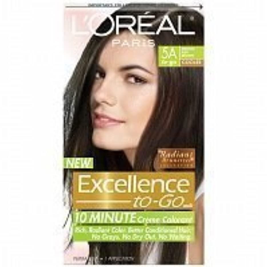 障害ハム崇拝しますL'Oreal Paris Excellence To-Go 10-Minute Cr?N?Nme Coloring, Medium Ash Brown 5A by L'Oreal Paris Hair Color [並行輸入品]