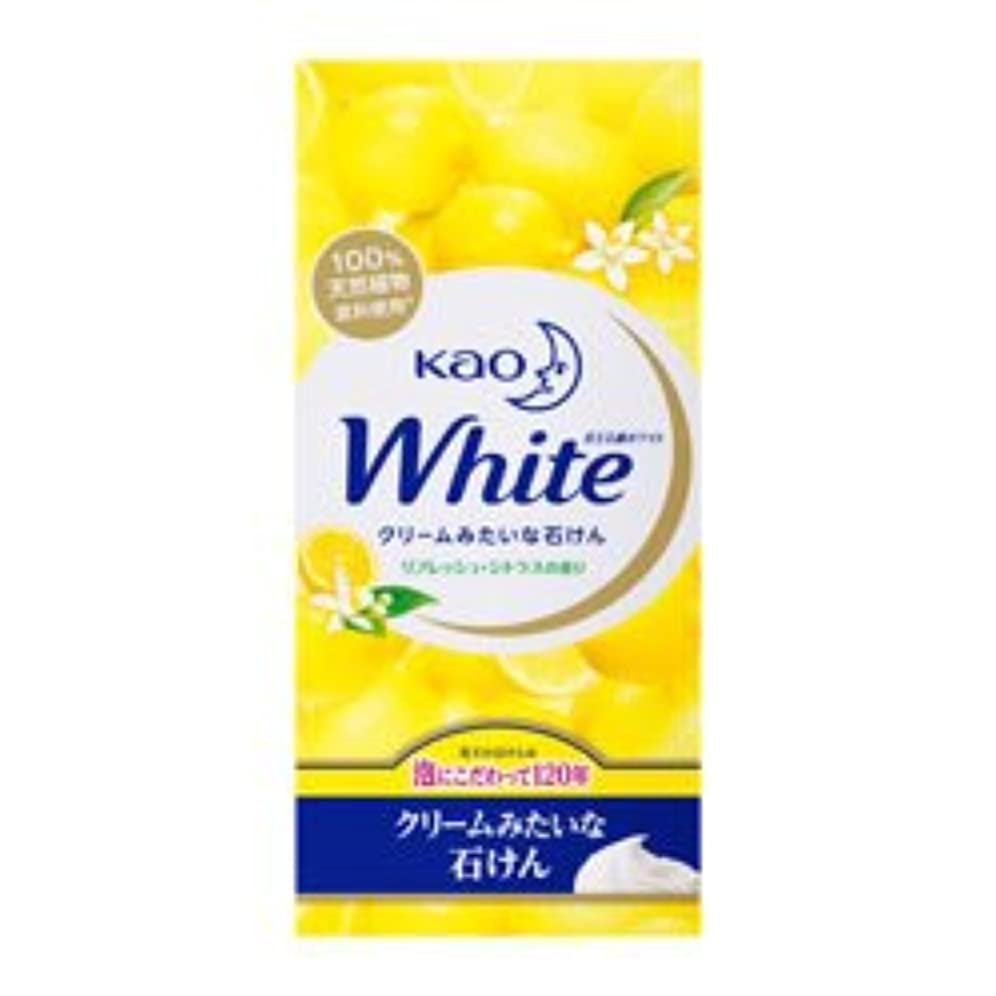 時間ファンお手入れ【花王】ホワイト リフレッシュ?シトラスの香り レギュラーサイズ 85g×6個入 ×20個セット