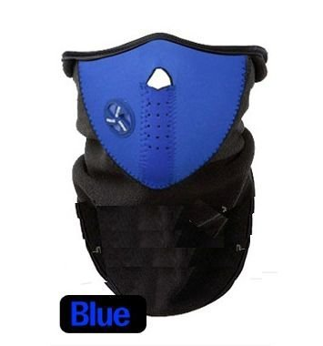 Kondolen フェイスマスク 3色 ネックウォーマー バイク 自転車 スノーボード スキー (ブルー)