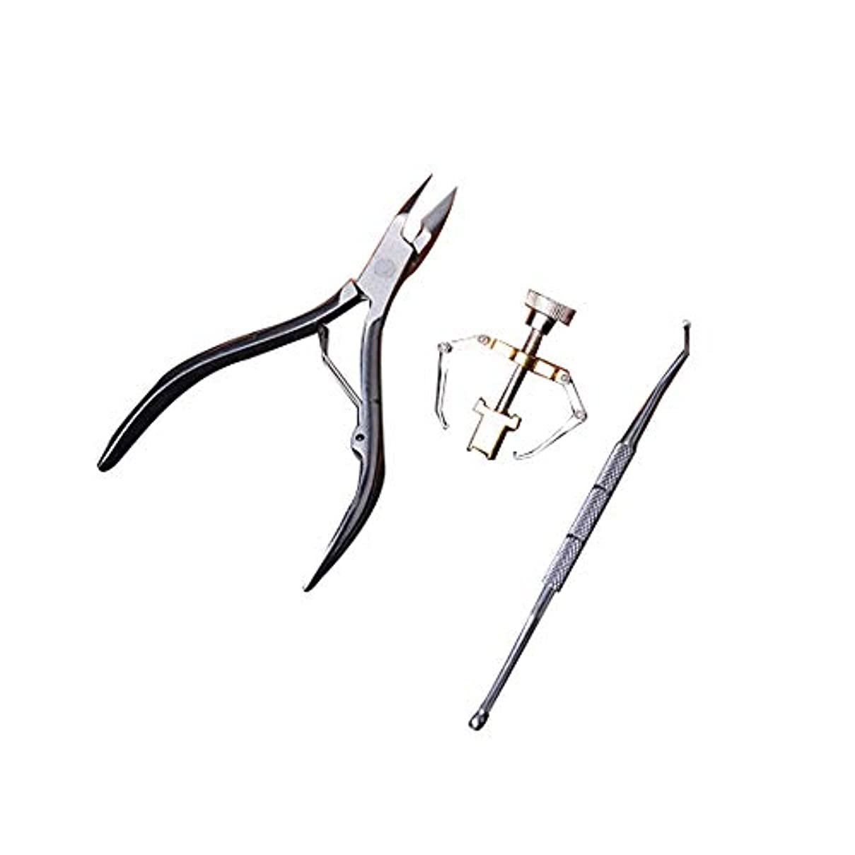 健康的上がる硬さステンレス爪切りセット携帯便利男女兼用 爪切りセット、シルバー、3点セット