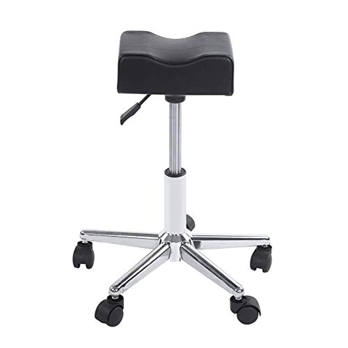 責任驚いたことに住居ローリングスツール、高さ調節可能な回転椅子ネイルショップスツールチェア、サロンマッサージ、タトゥー、スパ用の快適なPuレザークッションシート